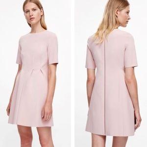 NWT COS Blush Full Zipper Short Sleeve Dress sz 6